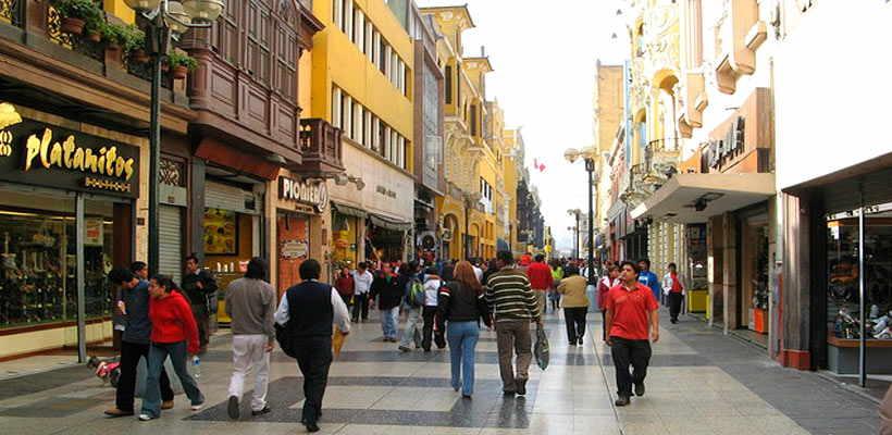 Jirón de la Unión en lima tour Perú
