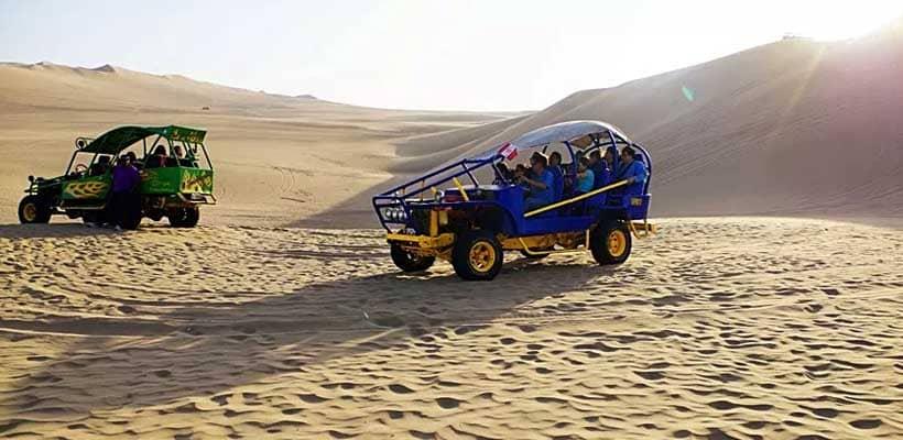 tour buggies y sandoarding en un viaje a huacachina en tours lima